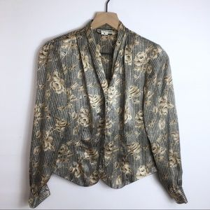 Vintage Notations Button Up Shirt, 4